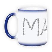 Magiškas puodelis. Mėlynas (300 ml)