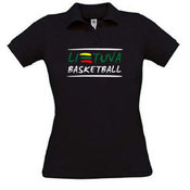 Women's polo shirt with your photo, the words, black