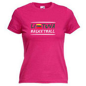 Women's T-shirt with your choice of photos, notes, pink