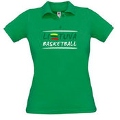 Women's polo shirt with your photo, the words, green