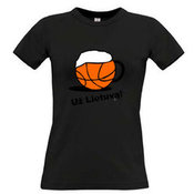 Women's T-shirt with your choice of photos, notes, black