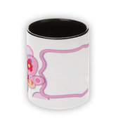 Two color cup. Black inside and handle (300ml)