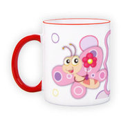 Mug with red handle (300 ml)