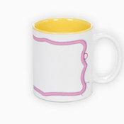 Two colors mug. Yellow interior (300 ml)