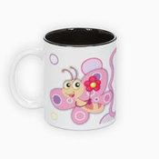 Two colors mug. Black interior (300 ml)