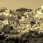 Kaitri vasaros diena Santorinyje
